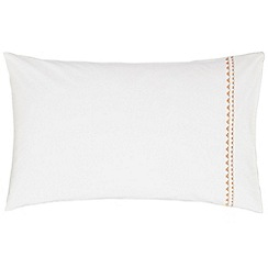 Harlequin - Natural cotton percale 180 thread count 'Saona' Standard pillow case