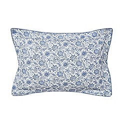 Fable - Dark blue cotton percale 220 thread count 'Sofifi' Oxford pillow case