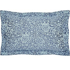 Helena Springfield - Light blue cotton and polyester 'Sylvie' Oxford pillow case