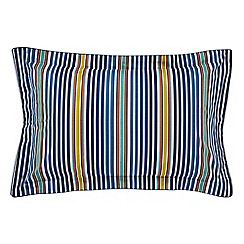 Bedeck 1951 - Dark blue cotton and polyester 180 thread count 'Tamar' Oxford pillow case