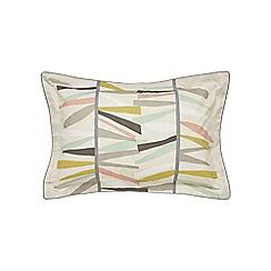 Scion - Multicoloured cotton percale 'Tetra' oxford pillow case