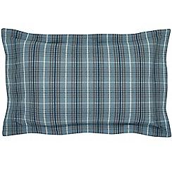 Hotel - Dark blue brushed cotton flannelette 'Valloire' Oxford pillow case