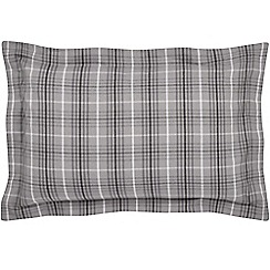 Hotel - Dark grey brushed cotton flannelette 'Valloire' Oxford pillow case