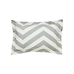Scion - Light grey cotton percale 'Vector' oxford pillow case