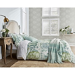 Sanderson - Light green cotton percale 200 thread count 'Waterperry' duvet cover