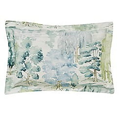 Sanderson - Light green cotton percale 200 thread count 'Waterperry' Oxford pillow case
