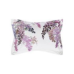 Sanderson - Light purple cotton percale 200 thread count 'Wisteria Falls' oxford pillow case