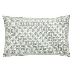 Sanderson - Pale yellow 300 thread count patterned 'Wisteria Blossom' pillow case pair