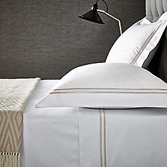 Hotel - Natural cotton sateen 'Linley' flat sheet