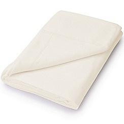Hotel - Ivory brushed cotton plain dye 'Valloire' flat sheet