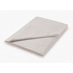Hotel - Natural combed cotton percale 300 thread count 'Deauville' flat sheet