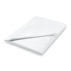 Hotel - White combed cotton percale 300 thread count 'Maya' flat sheet
