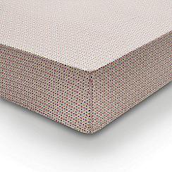 Helena Springfield - Multicoloured polyester and cotton 'Dot Penny' fitted sheet