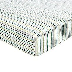 Helena Springfield - Multicoloured polyester and cotton 'Jacaranda Amalfi' fitted sheet