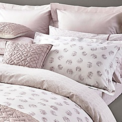 Fable - Light purple cotton percale 300 thread count 'Kari' fitted sheet