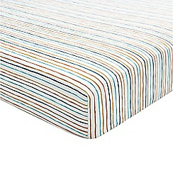Helena Springfield - Blue polyester and cotton 'Oasis Amalfi Oceanic' fitted sheet