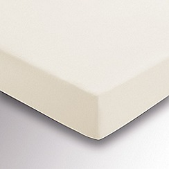 Hotel - Ivory brushed cotton plain dye 'Valloire' fitted sheet