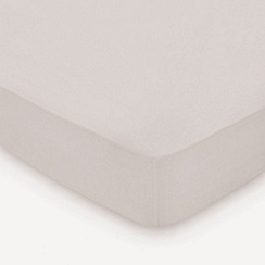 Hotel - Natural combed cotton percale 300 thread count 'Deauville' fitted sheet