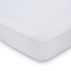 Hotel - Silver combed cotton percale 300 thread count 'Samsara' fitted sheet
