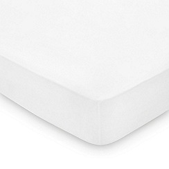 Hotel - White combed cotton percale 300 thread count 'Maya' fitted sheet
