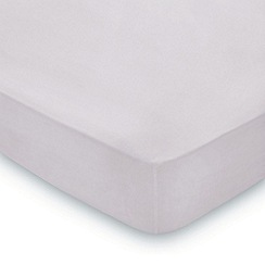 Hotel - Light purple combed cotton percale 300 thread count 'Zella' fitted sheet