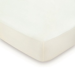 Hotel - Cream combed cotton sateen 600 thread count 'Sivoli' fitted sheet