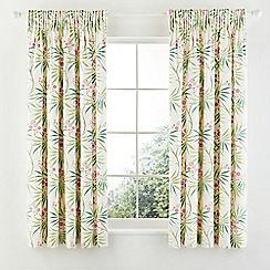Sanderson - Light pink cotton sateen Sanderson Home 'Arberella' lined curtains