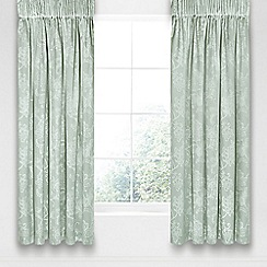 Sanderson - Aqua cotton and polyester 'Alencon' lined curtains
