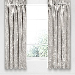 Sanderson - Silver cotton and polyester 'Alencon' lined curtains