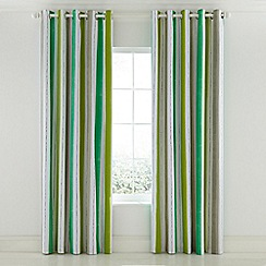Helena Springfield - Bright green cotton half panama 'Amalfi Tropical' lined curtains