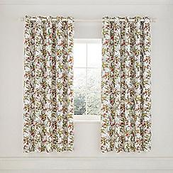 Helena Springfield - Green Cotton Half Panama 'April' Lined Curtains