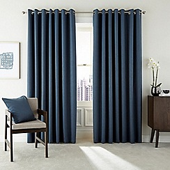 Hotel - Dark blue polyester 'Barcelo' lined curtains