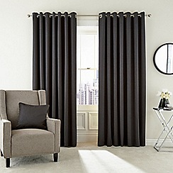 Hotel - Dark grey polyester 'Barcelo' lined curtains