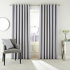 Hotel - Silver polyester 'Barcelo' lined curtains