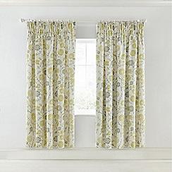 Sanderson - Multicoloured grey cotton sateen Sanderson Home 'Batik Garden' lined curtains