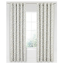 Sanderson - Light grey cotton panama Sanderson Home 'Damson Tree' lined curtains
