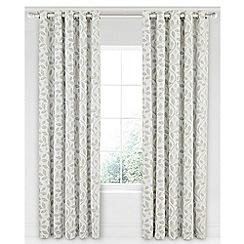 Sanderson - Light grey cotton panama Sanderson Home 'Damson Tree' lined curtains