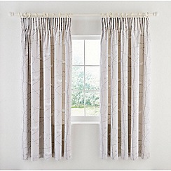 Sanderson - Silver cotton sateen Sanderson Home 'Dawn Chorus' lined curtains