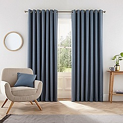 Helena Springfield - Blue polyester 'Eden' lined curtains