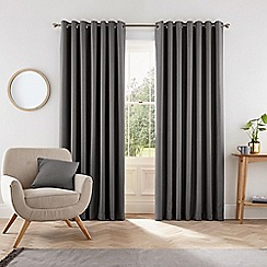 Helena Springfield - Dark grey polyester 'Eden' lined curtains