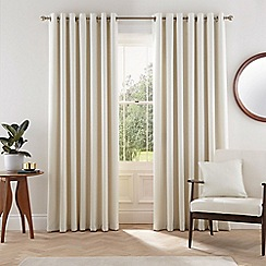 Helena Springfield - Light grey polyester 'Eden' lined curtains