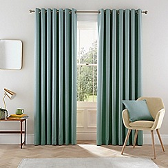 Helena Springfield - Light blue polyester 'Eden' lined curtains