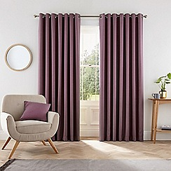 Helena Springfield - Purple polyester 'Eden' lined curtains