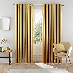 Helena Springfield - Dark yellow polyester 'Eden' lined curtains
