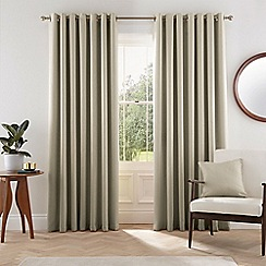 Helena Springfield - Natural polyester 'Eden' lined curtains