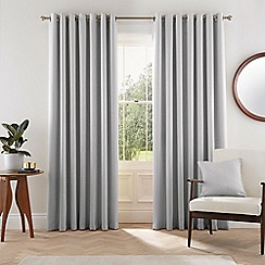 Helena Springfield - Silver polyester 'Eden' lined curtains