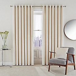 Hotel - Natural polyester velvet 'Escala' lined curtains