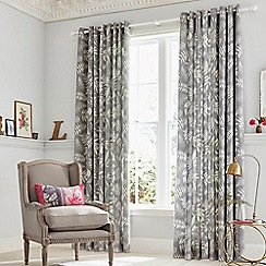 Clarissa Hulse - Grey Cotton Sateen 'Espinillo' Lined Curtains