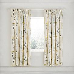 Sanderson - Natural Cotton 'Floral Bazaar' Linen Curtains