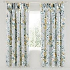 Sanderson - Light blue cotton sateen Sanderson Options 'Giselle' lined curtains